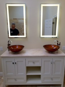 These beautiful glass sinks not only look pretty but are a wonderful finish
