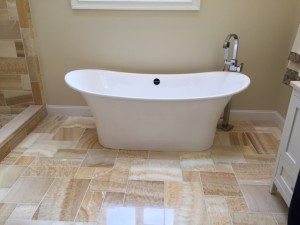 Not only is the tub beautiful, but so inviting!